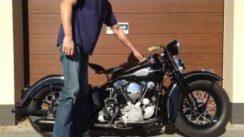 Vintage 1942 Harley Davidson FL Knucklehead