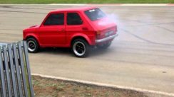 Modified Fiat 126 Maluch Drag Racing