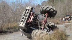 Rolls a GIANT GMC 4×4 Mud Truck