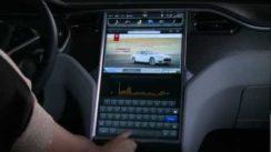 Tesla Model S 17″ Touchscreen Display Demo