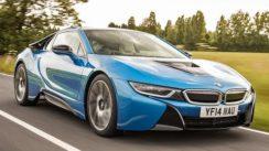 BMW i8 Hybrid Sports Car Driven