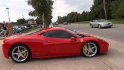 Ferrari Supercars at Cars & Coffee Car Show