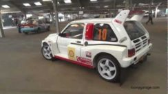 MG Metro 6R4 Rally Car Spitting Flames
